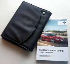 BMW 6 SERIES COUPE F06 Manual Owners Handbook & WALLET 2011–2017 iDrive 640 650