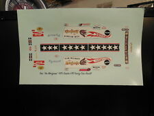 1/16 SCALE TOM McEWEN'S 1970 MONGOOSE DUSTER FUNNY CAR DECAL/REVELL/