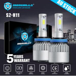 H11 H8 H9 LED Headlight Kit Bulbs 2000W 300000LM 6000K Globe Bulbs High/Low Beam