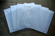 Creative Memories Original 12x12 White Scrapbook Pages & Protectors - set of 5