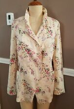 Beautiful Cream Color Floral Pattern Blazer Jacket By Free People!! Size Small!!