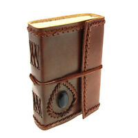 Fair Trade Handmade Eco Friendly Small Stoned Leather Journal 2nd Quality