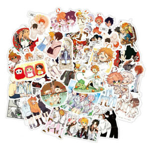 50 Pcs The Promised Neverland Stickers Laptop DIY Decal Vinyl Waterproof Sticker