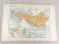 1888 Antique French Map of Ancient Empire of Alexander The Great Historical