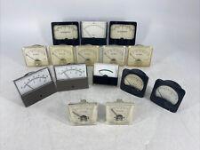 Lot Of 15 Vintage Assorted Panel Meter Meters Honeywell Ideal Simpson Ge