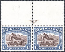 South Africa 1933/48 1s 1948 printing, brown arrow pair, SG.62, stamps UM