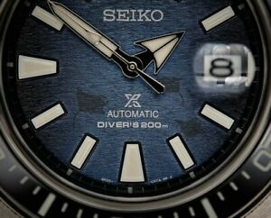Seiko Prospex Samurai SRPF79 Save The Ocean Limited Blue Wrist Watch for Men