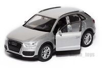 Audi Q3 silver, Welly scale 1:34-39, model toy car gift