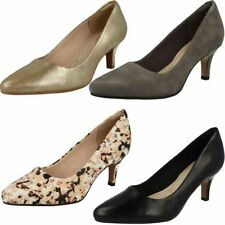 Clarks Leather Court Slim Heels for Women