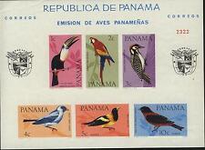 Panama MNH Sc C338a IMPERFORATED Souvenir sheet BIRDS Value $ 22.50