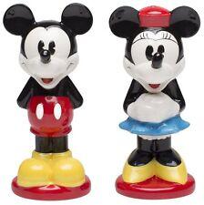 Disney Mickey & Minnie Mouse Ceramic Salt & Pepper Shakers - Zak!