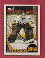 1987-88 TOPPS # 13 BRUINS BILL RANFORD GOALIE  ROOKIE NRMT+  CARD
