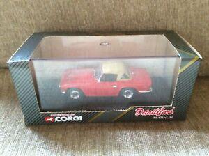 TRIUMPH TR6 RED WITH TAN HOOD & BROWN INTERIOR 1:43 CORGI DETAIL CARS *VGC BOXED