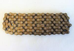"~ NOS Regina Extra BX ORO Bicycle Chain Black / Gold 1/2"" x 3/32"" 112L ~"