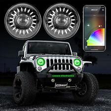 Bluetooth 7in Smartphone App Controlled RGB LED Headlight Jeep Wrangler JK & TJ