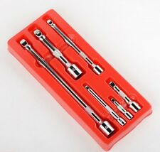 "6PC Drive Car Wobble Socket Extension Bar 1/4"" 3/8"" 1/2"" Auto Shop Hand Tool Set"