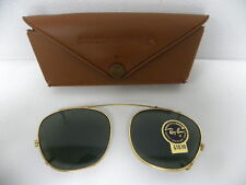 New Vintage B&L Ray Ban Clip On 46mm Gold G-15 Gray USA