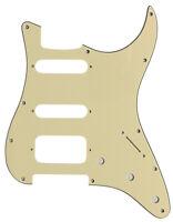 For Fender 3-Ply 11 Sctew Stratocaster Start HSS Guitar Pickguard,Vintage Yellow