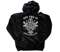 See you in Valhalla Odin Tyr Thor Germanen Wikinger Kapuzen-Sweat-Shirt S-XXL