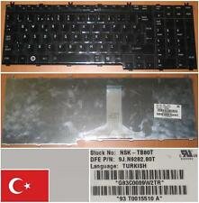 QWERTY KEYBOARD TURKISH TOSHIBA G50 F50 P200 P205 X300 NSK-TB80T 9J.N9282.80T