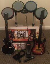 Guitar Hero Guitars(2), Drums, Pedal & Games/ Band