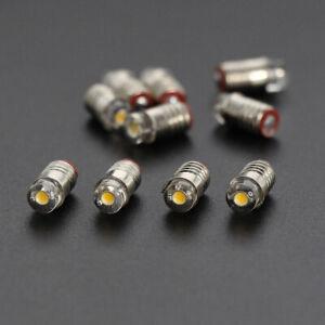 10pcs Warm White Screw Bulb E5 E5.5 Leds 12V 14V HO/TT/N Scale E505WM