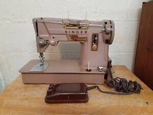 Vintage Singer Model 328K Heavy Duty Upholstery Sewing Machine w/ Foot Pedal