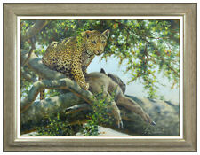 Guy Coheleach Original Oil Painting on Canvas Animal Big Cat Signed Framed Art