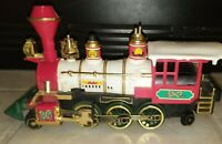 Vintage 1986 New Bright Holiday Express Train LOCOMOTIVE ENGINE UNTESTED