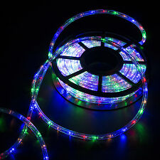 50FT LED Rope Light 2-Wire Outdoor Home Xmas Party Stripe Lighting