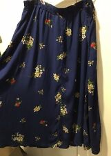 Skirt, Blue Floral, Woman Within Size Large (18/20), Elastic Waist (NWT)