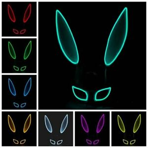 Light Mask Headwear Cosplay Mask Led Light up Mask Party Props Party Mask Props