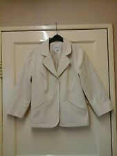 WOMENS PRETTY JACKET CREAM SIZE 10 BY NEXT