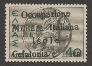 "IT. OCCUPATION ITACA 1941 - 40 L MLH capital ""O""  signed - cat. $ 3,600 / N8438"