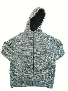 """Womens Fur Lined Fluffy Sherpa Jacket Hoodie Size Large 41"""" to 43"""" Chest Grey"""