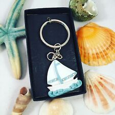 Ahoy Crew Nautical Sailboat Key Chain Boat Life Sailor