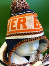 WH229 NFL Denver Broncos Toddler Woolly Bobble Hat w/Ties 2T-4T