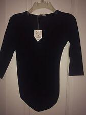 NWT 2 Lot Leotards Black 3/4 Sleeve Zara And Pink Cami ETAM