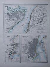 1916 Map Quebec City Environs Montreal City Hall Market Niagara Hydraulic Canal