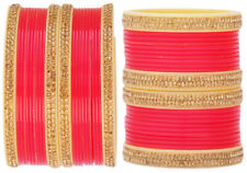 Indian Traditional Bangles Set Rose Bollywood Bangles Wedding Costume Jewelry