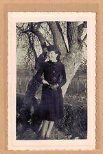 Carte Photo vintage card RPPC femme élégante manteau chapeau mode fashion pz0246