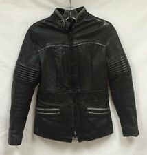 Vintage Brimaco Leather Motorcycle Jacket Womens Black