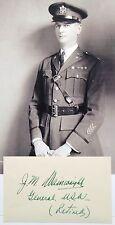 General Jonathan Wainwright World War II Medal Honor Recipient Autograph Card