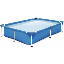7.25ft x 5ft x 17in Rectangular Above Ground Swimming Pool Kids Adult Swimming
