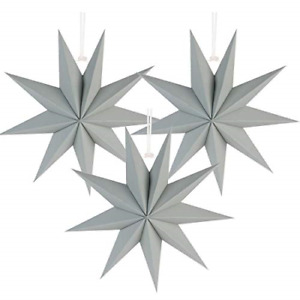 Easy Joy 9-Pointed Star 3D Paper Hanging Christmas Decorations Wedding Birthday