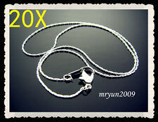 """FREE 20pcs Jewelry Claw Chains Silver plated snake chain Necklace With Clasp 16"""""""