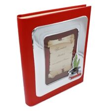 Graduation Photo Album Made of Red Faux Leather Cover Frame 5 x 7''