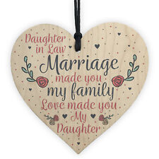 Wood Plaque Mother Daughter In Law Gift Wedding Gift Birthday Christmas Keepsake