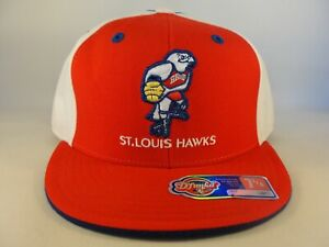 St Louis Hawks NBA Reebok Fitted Hat Cap Size 7 1/4 Red White Blue