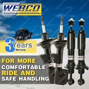 Front + Rear Webco Pro Shock Absorbers for FORD FESTIVA WB WD WF Hatch